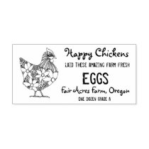 Happy Chickens Egg Carton Stamp