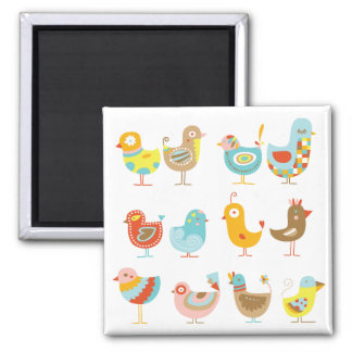 Happy Chickens Magnet