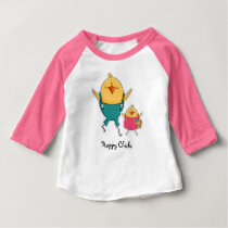 Happy Chicks. Easter Gift Baby T-Shirts