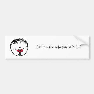 Happy child for a better world bumper sticker