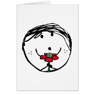 Happy child for a better world greeting card