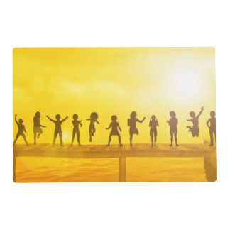 Happy Children and Friendship in School Concept Placemat