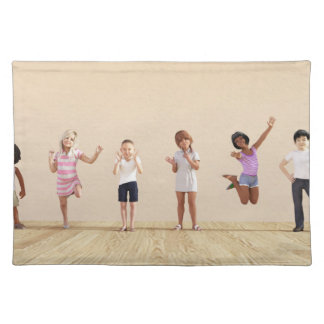 Happy Children in a Day Care or Daycare Center Cloth Placemat