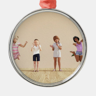 Happy Children in a Day Care or Daycare Center Metal Ornament