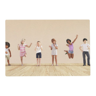Happy Children in a Day Care or Daycare Center Placemat