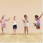 Happy Children in a Day Care or Daycare Center Statuette