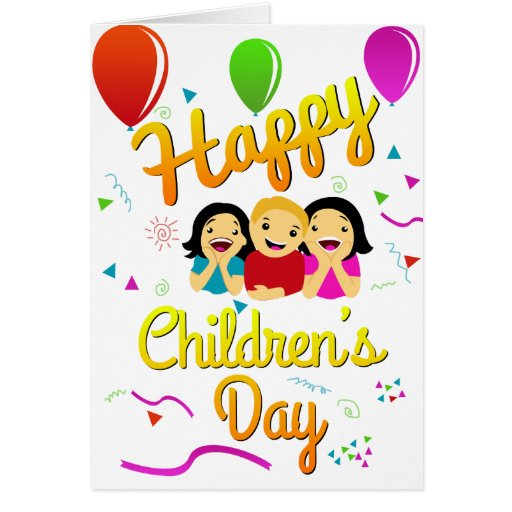 Happy Children's Day Greeting Card | Zazzle