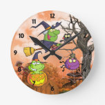 Happy Childrens learning  Halloween Wall Clock