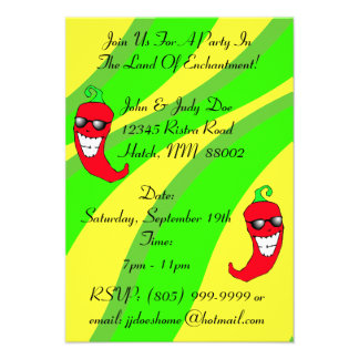 Happy Chiles Pepper Ristra Chile peppers NM themed Personalized Invites