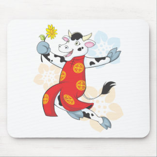 Happy Chinese Cow Mouse Pad