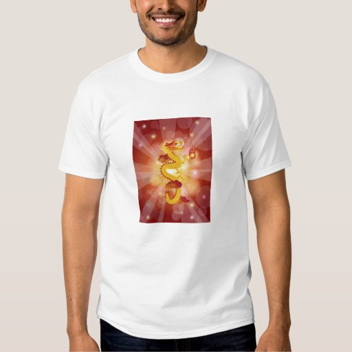 Happy Chinese Dragon with Fireball T-shirt