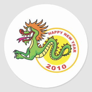 Happy Chinese New Year 2010 Classic Round Sticker
