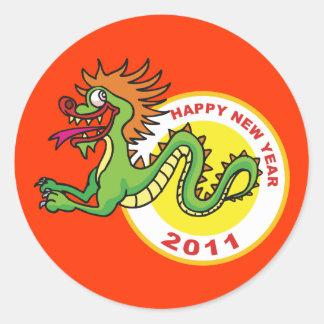 Happy Chinese New Year 2011 Classic Round Sticker