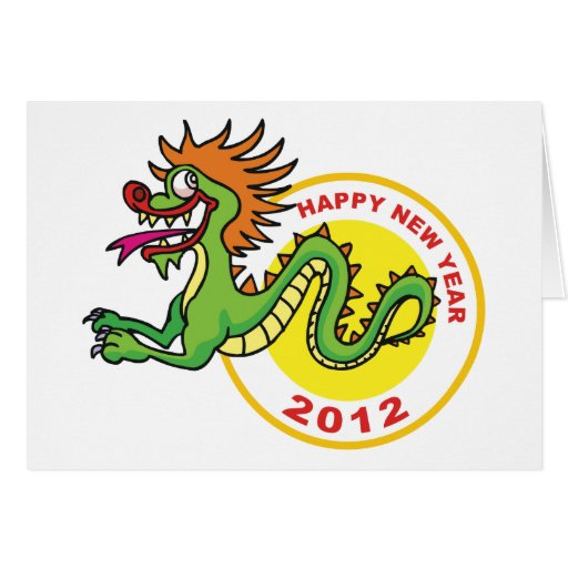 Happy Chinese New Year 2012 Greeting Card