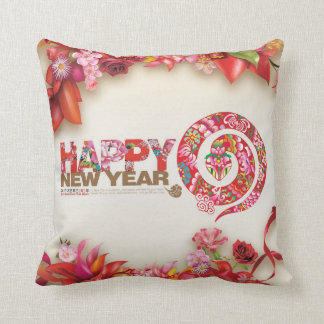 Happy chinese new year 2013 throw pillow