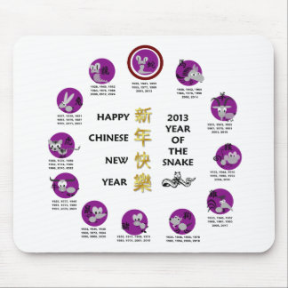 Happy Chinese New Year 2013 Year Of The Snake Mouse Pad