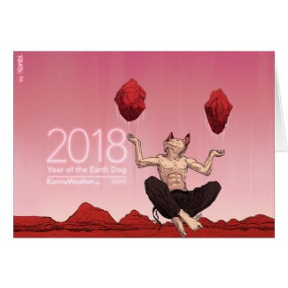 Happy Chinese New Year 2018, Year of the Dog Card