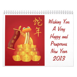 Happy Chinese New Year Calendar