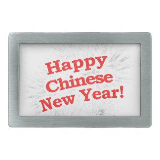 Happy Chinese New Year Design Rectangular Belt Buckle