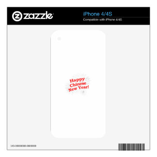 Happy Chinese New Year Design Skin For iPhone 4