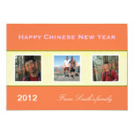 "Happy Chinese New Year family photo greeting cards 5"" X 7"" Invitation Card"