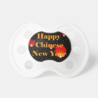 Happy Chinese New Year Holiday Lanterns Baby Pacifier