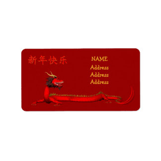 Happy Chinese New Year Address Label