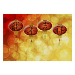Happy Chinese New Year Lanterns Poster