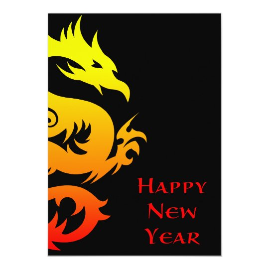 happy chinese new year : year of the dragon 2012 card