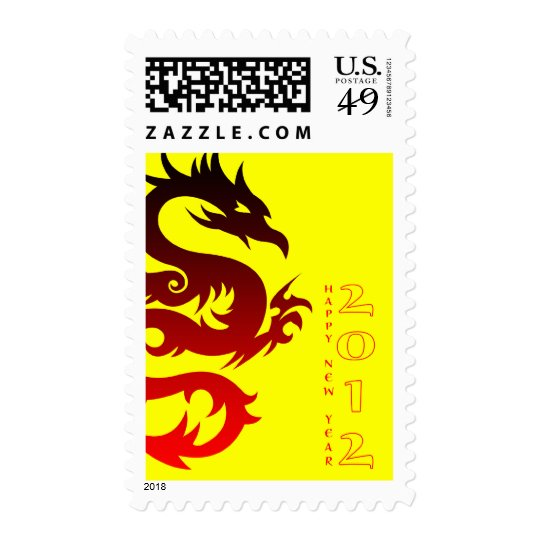 happy chinese new year : year of the dragon postage