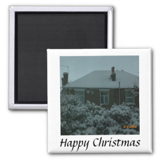 Happy Chirstmas 2 Inch Square Magnet