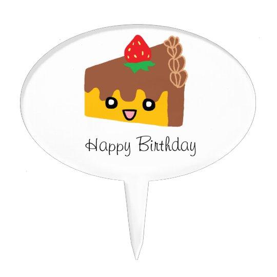 Happy Chocolate Cake Cake Topper