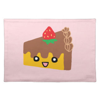 Happy Chocolate Cake Cloth Placemat