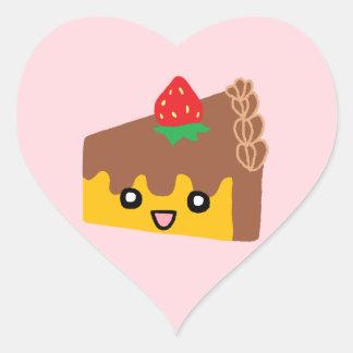 Happy Chocolate Cake Heart Sticker