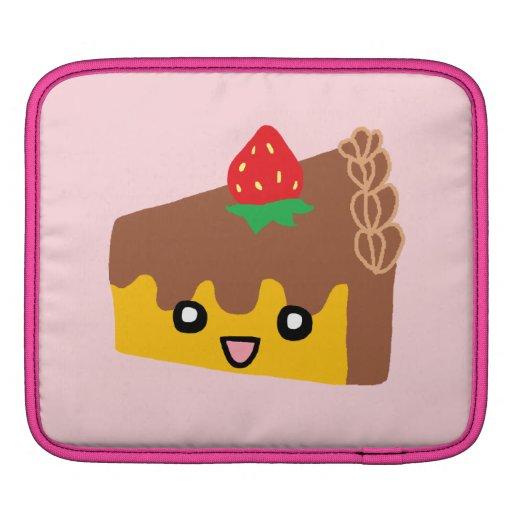 Happy Chocolate Cake iPad Sleeve
