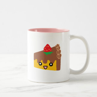 Happy Chocolate Cake Two-Tone Coffee Mug