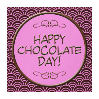 Happy Chocolate Day Cute Canvas Canvas Print