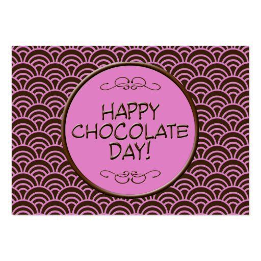 Happy Chocolate Day! Pink and Brown Business Card
