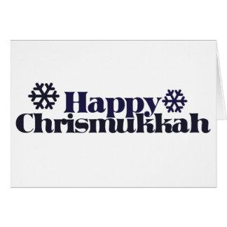 Happy chrismukkah greeting card