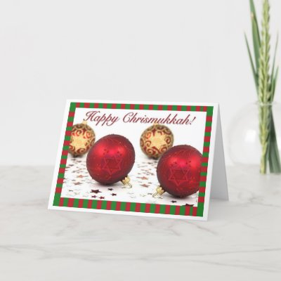 Happy chrismukkah greeting card bagels cookies zazzle m4hsunfo