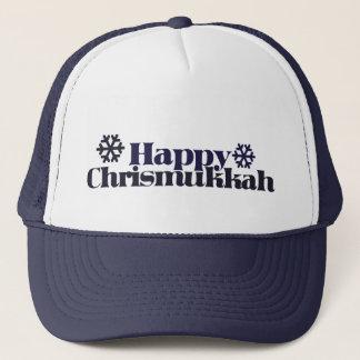 Happy chrismukkah trucker hat
