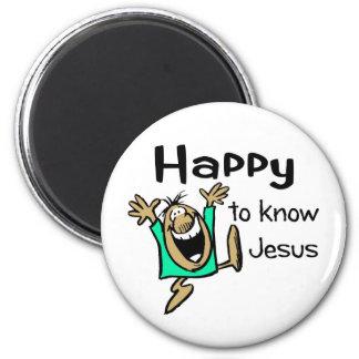 Happy Christian guy dancing Magnet