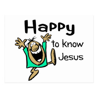 Happy Christian guy dancing Postcard