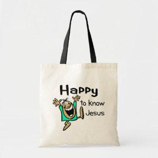 Happy Christian guy dancing Tote Bag
