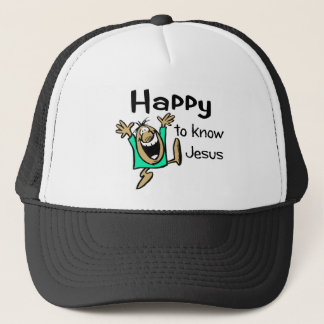 Happy Christian guy dancing Trucker Hat