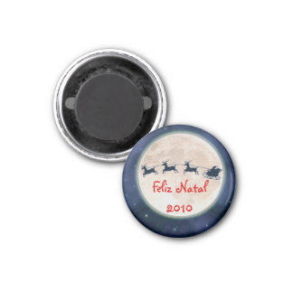 Happy Christmas 1 Inch Round Magnet