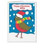 Happy Christmas Alfie Greeting Card