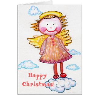 Happy Christmas Angel Card