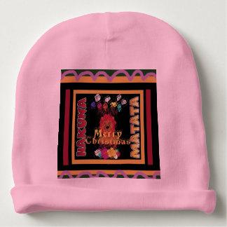 Happy Christmas Baby Pink Hakuna Matata Baby Beanie