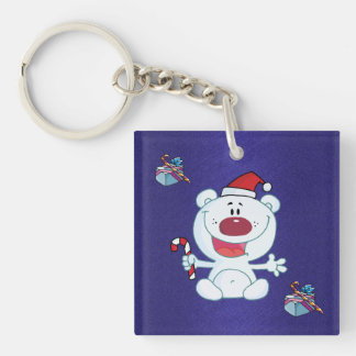 Happy Christmas Bear Key Chain